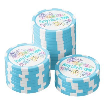 #Party Like It's 1999® - Poker Chips - Design 08 - #NewYearsEve New Years Eve #newyearparty #happy #newyear #party #friends #celebrate