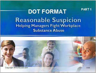 image of dot supervisor training cover slide.