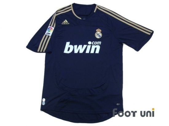 Real Madrid 2007-2008 Away Shirt LFP Patch/Badge ADIDAS - Football Shirts,Soccer Jerseys,Vintage Classic Retro - Online Store From Footuni Japan