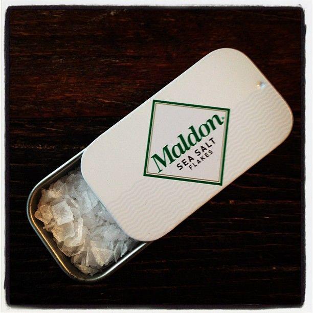 A Travel-Size Maldon Sea Salt Tin: BA Daily:  bonappetit.com  Just in case!!