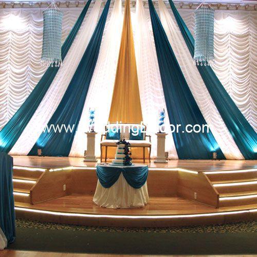 Hochzeitshintergrund A-Linie Hintergrund – Gold, Elfenbein und Blaugrün mit Kronleuchter …   – lalas new space