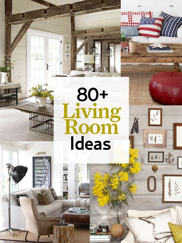 80 amazing ideas to transform your living room into everyone's favorite gathering space: http://www.countryliving.com/homes/decor-ideas/living-room-gallery
