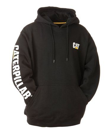 Another great find on #zulily! Black 'Caterpillar' Banner Hoodie - Men #zulilyfinds