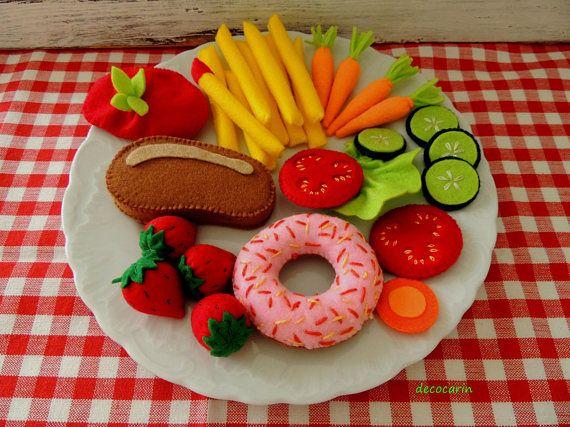 Felt Food Felt Donut Felt Vegetables Felt Fruit Felt