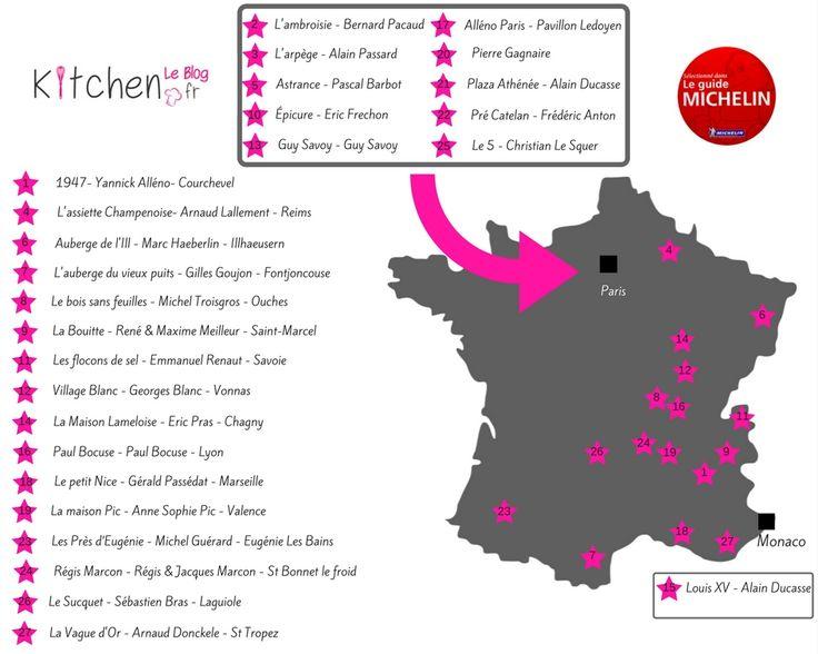 Découvrez les 27 restaurants 3 étoiles au Guide Michelin