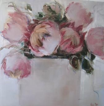 Nicole Pletts - Proteas, Oil on Canvas