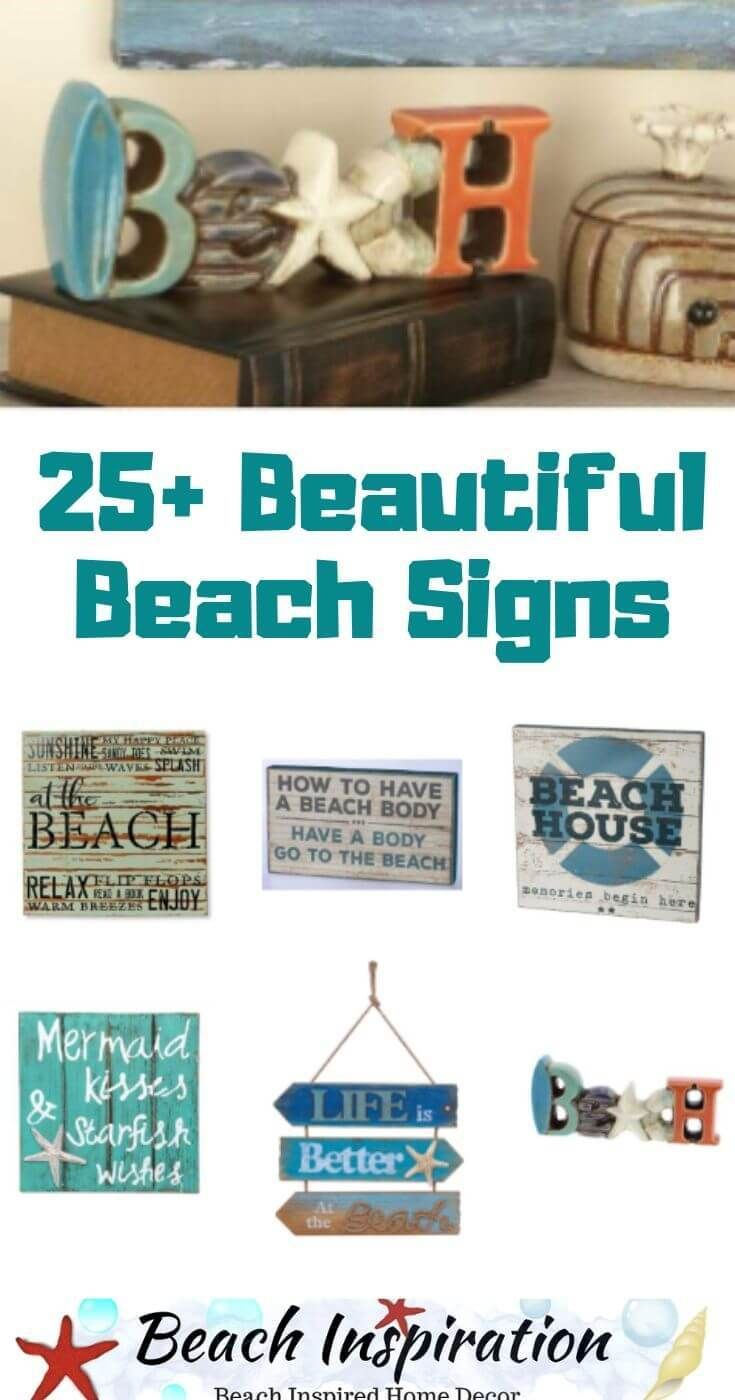 25 Beach Signs And Sayings Wood Plaques Beach Signs Coastal