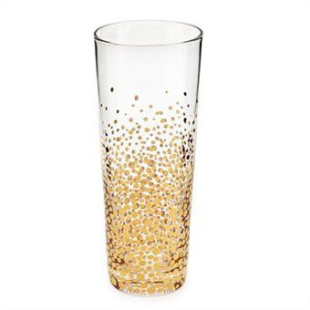Bubbly Champagne Flutes, Gold Set of 4. Would be great for a New Year's Party #indigo #magicalholiday