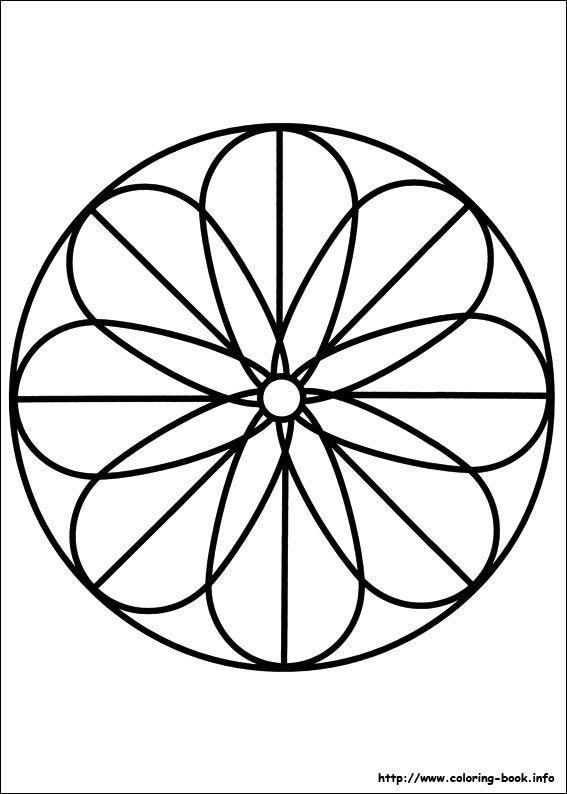 Mandalas coloring picture