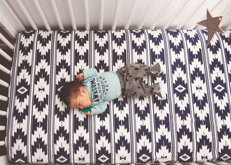 Kilim Crib Sheet - such a gorgeous design!