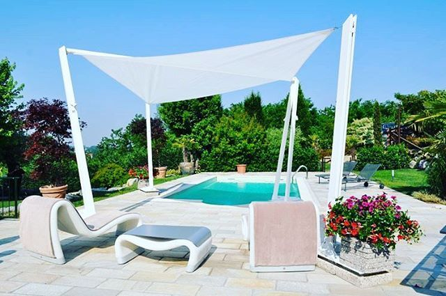"""""""Mi piace"""": 0, commenti: 1 - PERGOSOLE (@pergole_copertine) su Instagram: """"VELA-Sail shade by standing structure on four supports to the ground, elegant and minimalist that…"""""""