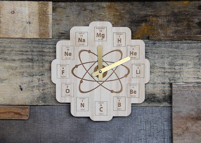 Best 25 copper periodic table ideas on pinterest physical image of wood periodic table clock baltic birch plywood urtaz Images