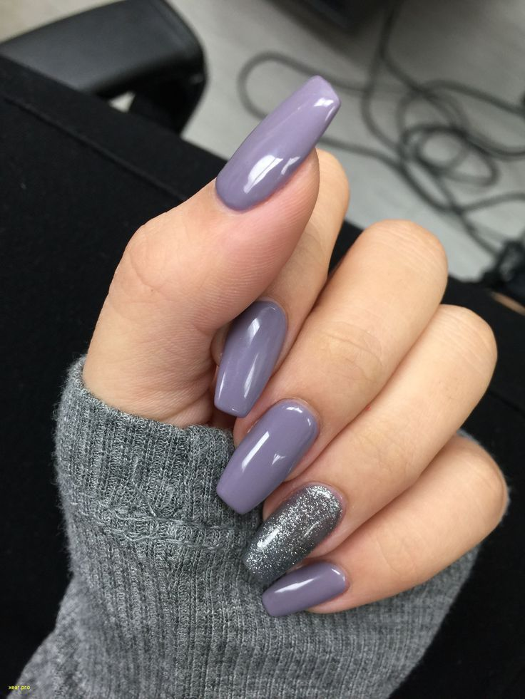 Einzigartige lila Nagelfarbdesigns – – #nageldesign