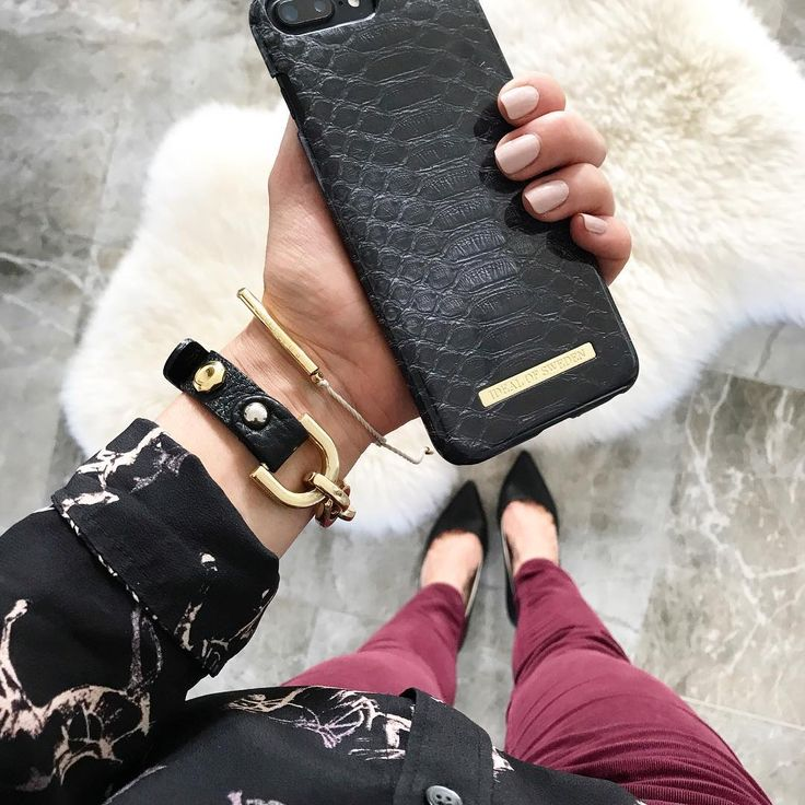 Black Reptile by lovely @jjslovelythings - Fashion case phone cases iphone inspiration iDeal of Sweden #black #reptile #gold #fashion #inspo #iphone #accessories