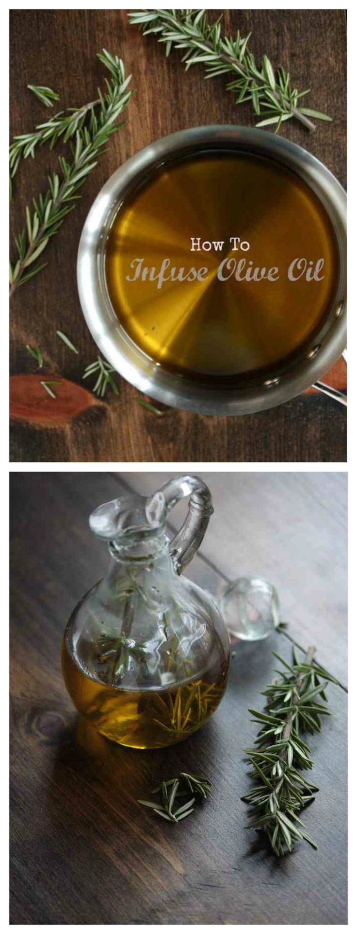 How to Infuse Olive Oil - So many different herbs to try! Garlic, rosemary, the possibilities are endless!