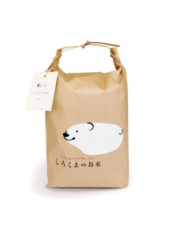 Shirokuma Rice Packaging by Ryuta Ishikawa
