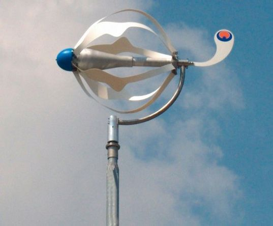 home wind generator - ENERGY BALL fun design actually utilizes Venturi principal to funnel wind - increasing efficiency and energy output, reducing noise levels - and great for low wind areas