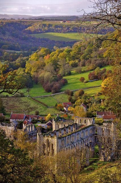 Rievaulx Abbey from the Terrace, North Yorkshire, #England                                                                                                                                                                                 More