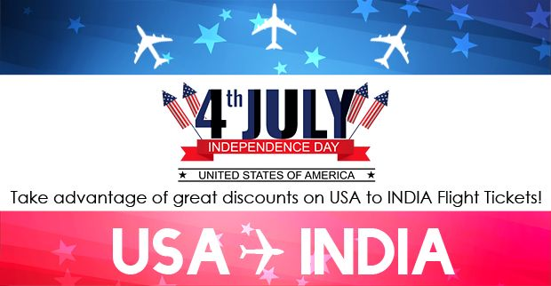 Lowfare India is glad to announce a special 4th July independence day airfare sale starting from $650* round trip for USA to INDIA flights.Call On: 301 220 2141 / 1877 359 2463 or visit our website : www.lowfareindia.com