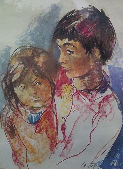 Autor: Juan C. Castagnino   Material: Serigrafia   Alto: 75 cm   Ancho: 50 cm   Año:1960   Origen: Argentina
