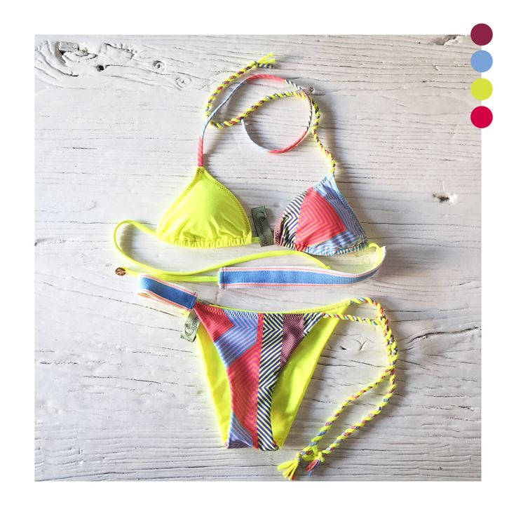 Amorissimo eva bikini surf style fluo print wild hearth buy at http://www.amorissimo.net/shop/swimwear/eva-surf