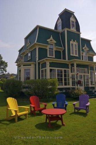 This Second Empire Victorian homestead (the Locke Homestead) is located on South Street in Lockeport Nova Scotia.  http://www.lockeport.ns.ca/