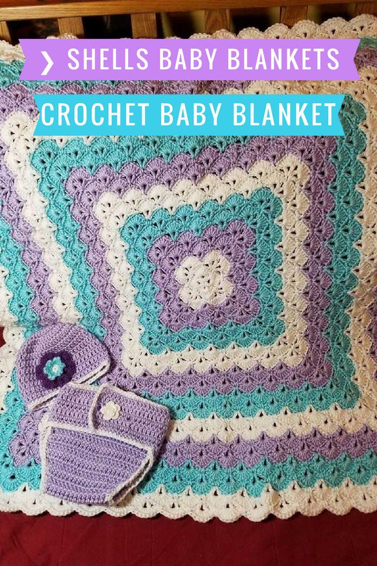 ❯ Beautiful Shells Baby Blankets - Free Patterns