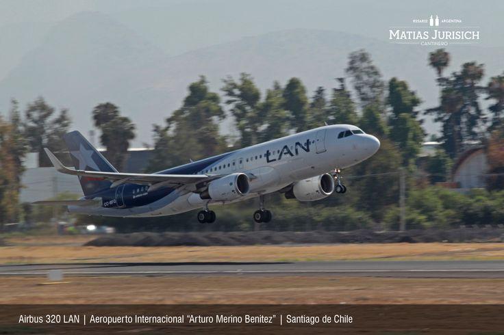 """Airbus 320 LAN   Aeropuerto Internacional """"Arturo Merino Benitez""""   Santiago de Chile"""
