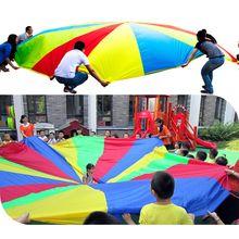 Диаметр 2 М Ребенок Спорт На Открытом Воздухе Игрушки Радуга Зонтик Парашют Игрушки для Детей Отношения Сотрудничества Развивающего Обучения 8 Браслет(China (Mainland))