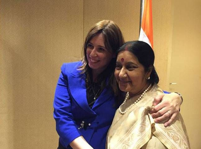 Sushma competing with Modi in international hugging spree : India, News - India Today