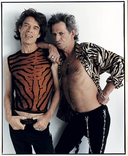 Mick Jagger and Keith Richards, Oklahoma City 1997, photographed by Mark Seliger
