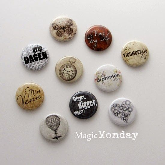 "Vintage buttons ""Grab-bag"" from MagicMonday.no"