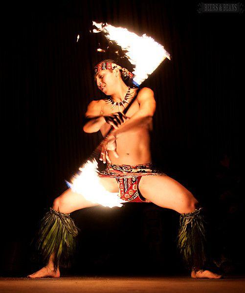 Fire dancer at a Maui luau