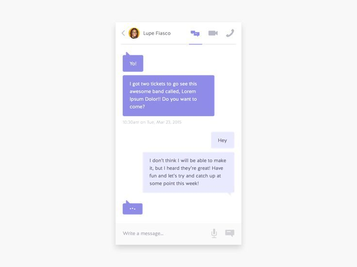 Dribbble - Simple Chat App by Amit Jakhu
