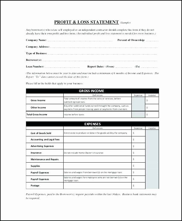 Self Employment Income Statement Template In 2020 Statement