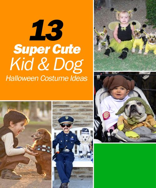 13 Super Cute Kid and Dog Halloween Costume Ideas #kidanddogcostumes #dogcostumes