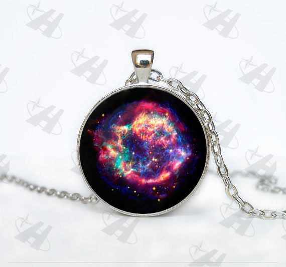 Cassiopeia Nebula Necklace,Galaxy necklace Space universe pendant Necklace,Vintage Corrente de prata Skyrim Necklace my orders #Affiliate