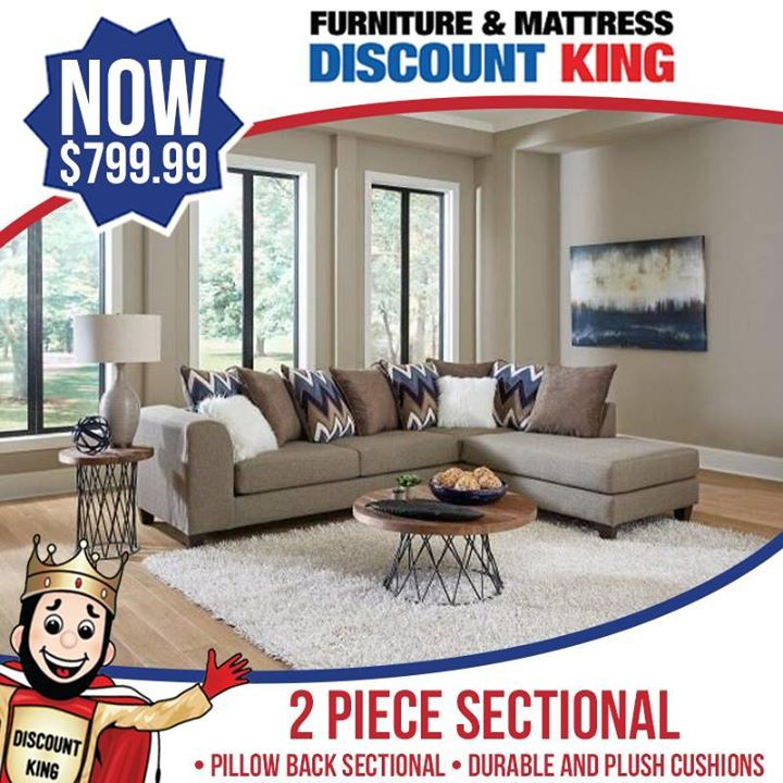 This Bestseller Pillow Back Sectional Is Really Raising Eyebrows At The Store The Unique Color Combin Mattress Furniture Discount Mattresses Quality Furniture
