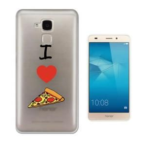 Huawei Honor 5C Protecteur Gel Silicone protection Case Coque c1061 - Cool Fun I Love Pizza Heart Fast Food Junk