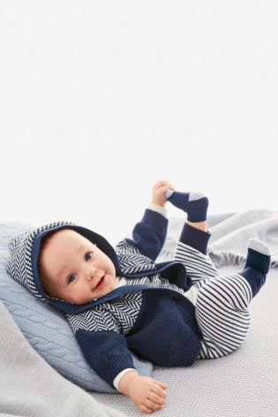 Buy Navy Chevron Cardigan (0-18mths) online today at Next: United States of America
