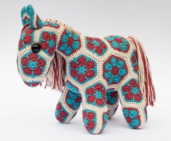 Crochet African Flower Horse Pattern : 17 Best images about Crochet patterns on Pinterest Free ...