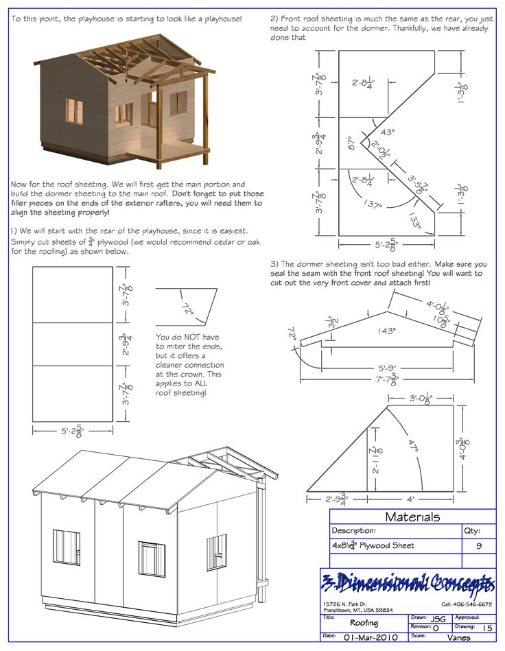lovely playhouse blueprints #7: Playhouse Plans - Childu0027s outdoor wood playhouse building plans | Awesome |  Pinterest | Playhouse plans, Wood playhouse and Playhouses