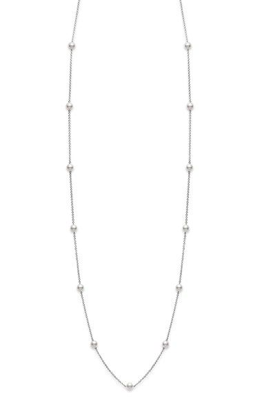 Mikimoto+Akoya+Cultured+Pearl+Station+Necklace+available+at+#Nordstrom  Mine is less long