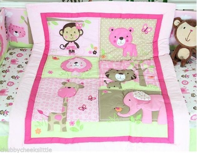 New High Quality Baby Girl Boy Crib/Cot Embroidered Blanket Quilt Comforter