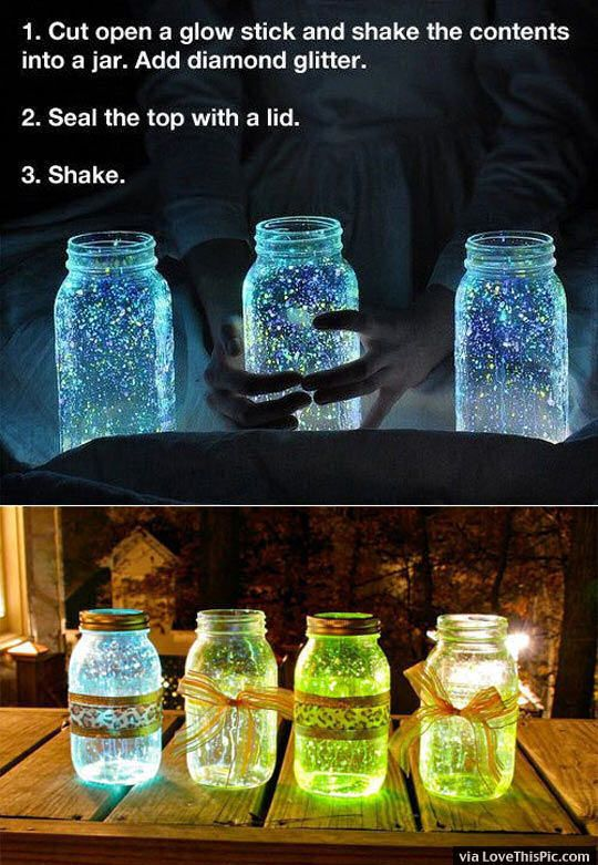 DIY Glow Jars Pictures, Photos, and Images for Facebook, Tumblr, Pinterest, and Twitter
