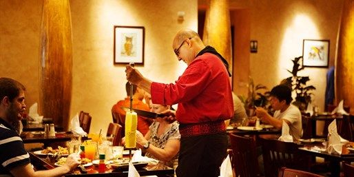 Pampas on The Strip. Brazilian Steak House Save 55% on an all-you-can-eat rodizio dinner for two.