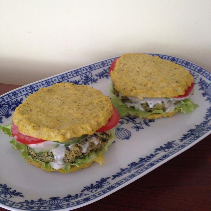 Cukkini burger (paleo, vega recept) ~ Éhezésmentes Karcsúság Szafival