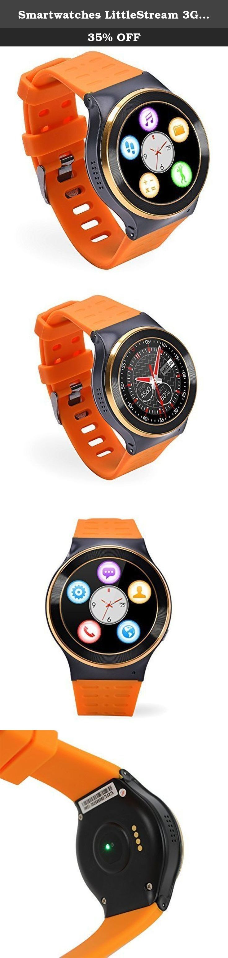 Smartwatches LittleStream 3G Android smart watches smart watch Orange. 1.3G Android smart watches; Andrews Android OS 5.1, Android Smartphone.MTK6580 The function equal to 1.3G quad-core CPU. 2.interpolazione of 500 million pixels (200 million physical pixels); Support WIFI wireless Internet access; 2G Support (Band 850 \ 900 \ 1800 \ 1900) 3G (WCDMA 2100/850). 3.schermo 1:54 capacitive multi-touch, high-definition 320x320 resolution IPS screen; Capacity: RAM: 512 MB, the capacity ROM: 4…