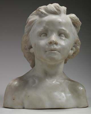 Buste de Jeanne enfant by Camille Claudel.