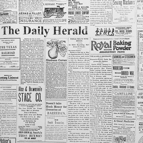 Magnolia Home The Daily Heraldspaper On Sure Strip Wallpaper